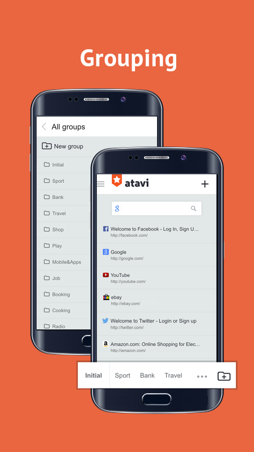 Bookmarks Atavi- screenshot