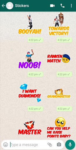 New Free Fire Stickers for WhatsApp WAStickerApps