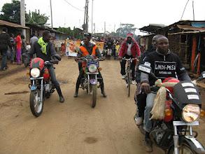 Photo: Kibera's boda-boda Lindi-Pesa team