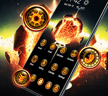 Planet Explosion Flame Galaxy Theme 2019 11