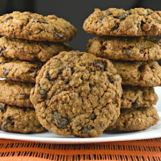 Molasses Oatmeal Chocolate Raisin Cookies.