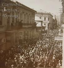 Photo: Хода за парадом військового ліцею. В центрі видніється перехрестя нинішніх вулиць Руської та Української. Фото 09 травня 1929 року.