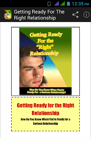 Getting Ready for Relationship
