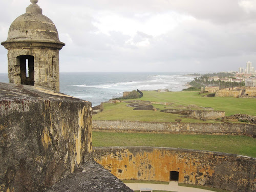 The Garita, or sentry lookout, at Castillo de San Cristobal, completed by Spanish forces in 1783. Old San Juan is a UNESCO World Heritage Site.
