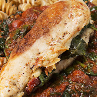 1. Sun-Dried Tomato And Spinach-Stuffed Chicken.