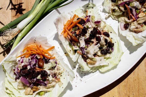 To be fancy, set aside a few of the nicest looking cabbage leaves and...