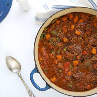Slow Cooker Beef and Red Wine Casserole.