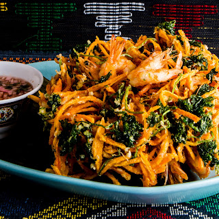 Shredded Sweet Potato and Carrot Fritters (Ukoy)