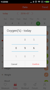 iCare Oxygen Monitor Pro Screenshot