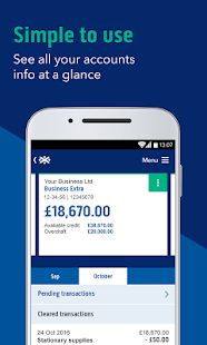 Bank of Scotland Business Mobile Banking - náhled