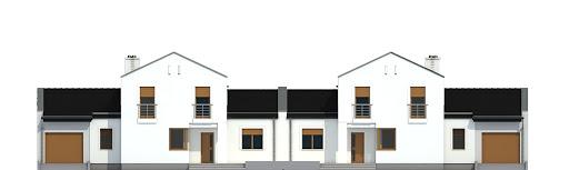 Kasjopea z garażem 1-st. bliźniak A-BL2 - Elewacja przednia