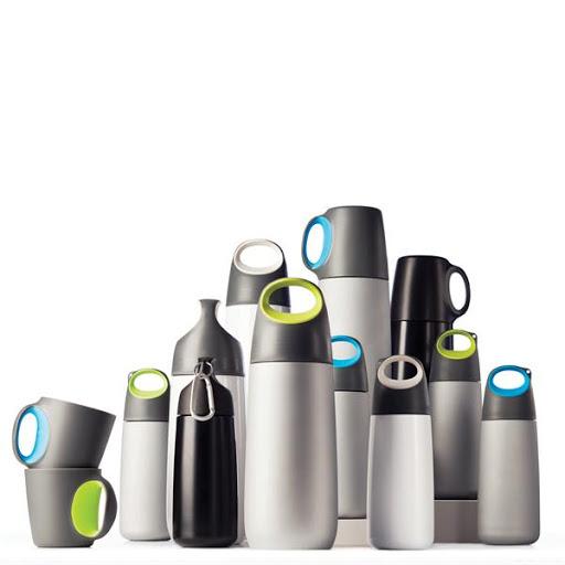 Steel Mini Water Bottles with Carabiner Green