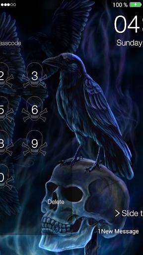 骷髏密碼鎖屏 玩娛樂App免費 玩APPs