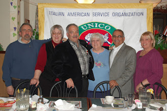 Photo: At the February 15th Monthly Meeting - The Roseto Executive Board with UNICO National Office