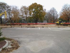 Photo: Main parking lot expansion 10-30-2013