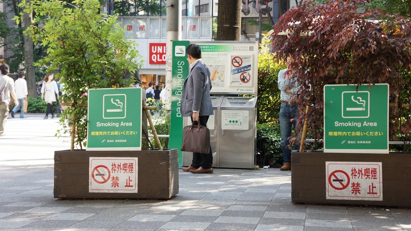 fumer au japon zone fumeur