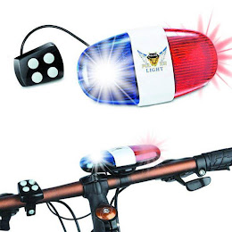 Sirena politie cu girofar de bicicleta