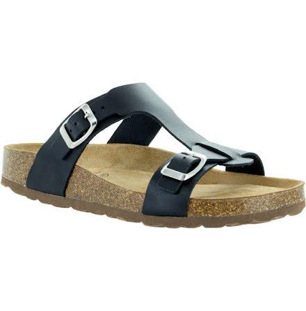 """Jill svart """"bio""""sandal med reglerbara spännen"""