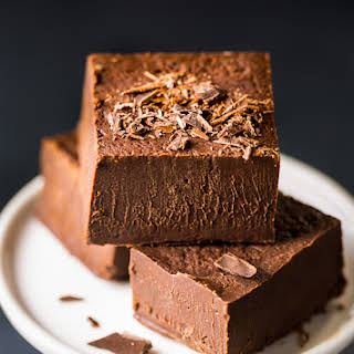 Creamy Kahlua Chocolate Fudge.