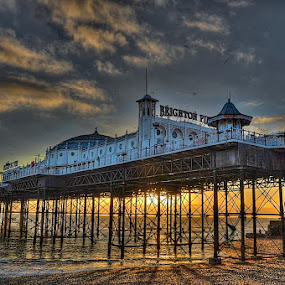 brighton pier by Mark West - Landscapes Waterscapes