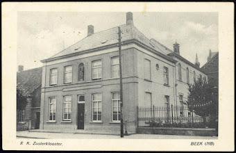 Photo: In 1942 was beek nog onder Princenhage . St. Franciscusklooster- Pastorie later in gebruik als gemeentehuis van Prinsenbeek