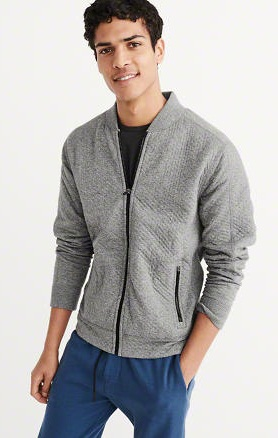 Zip-Up plain Men's Sweatshirt