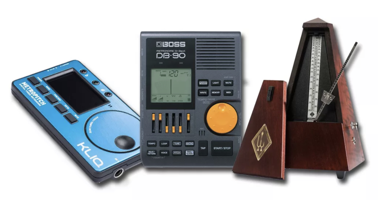 Using a metronome for electric guitar.