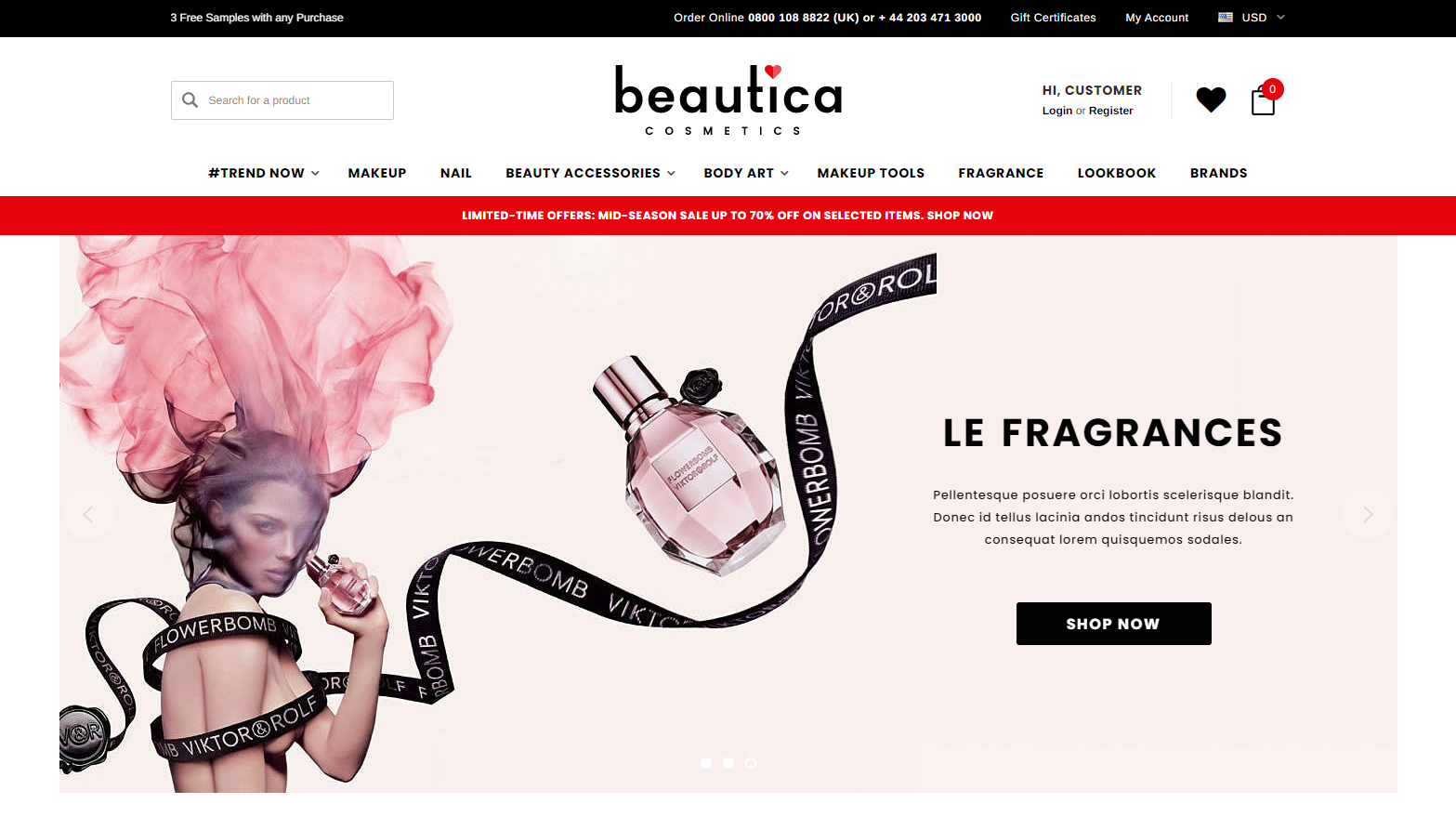 beautica Best Themes for BigCommerce