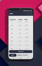 SRM LITE : NOTES   GPA & CGPA    MARKS EST.   ERP screenshot thumbnail