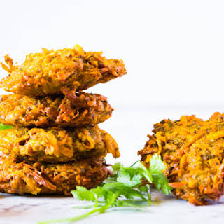 Sweet Potato Fritters with Lime and Jalapeño Aioli.