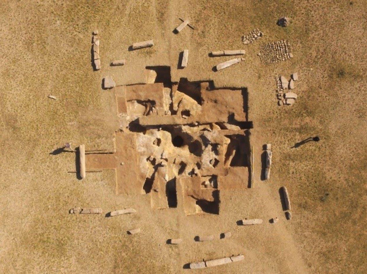 Göktürk Mezarı Drone Görüntüsü