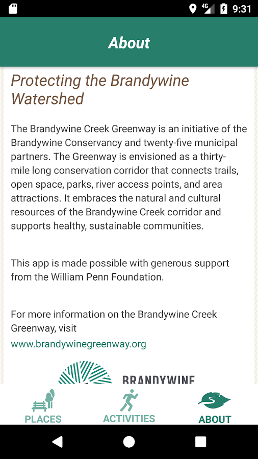 Brandywine Creek Greenway- screenshot