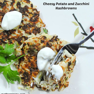 Cheesy Potato and Zucchini Hashbrowns.