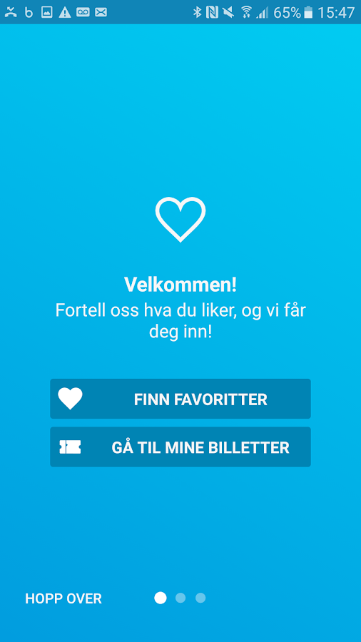 Ticketmaster Norge- screenshot