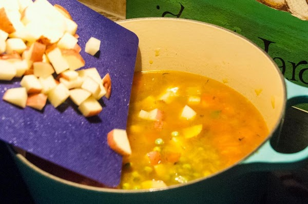 Add the ingredients from PHASE THREE, and allow the soup to simmer for 25...