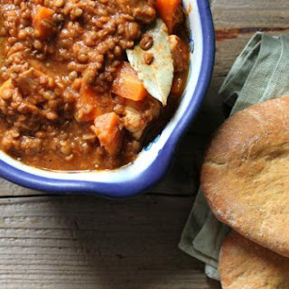 Chicken And Lentil Stew With Cumin Pitta