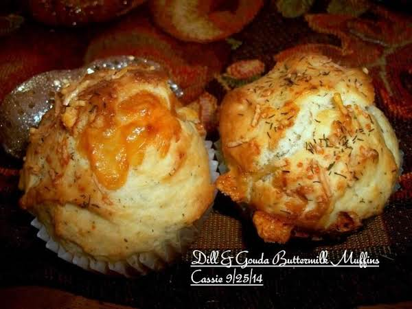 Dill & Gouda Buttermilk Muffins Recipe