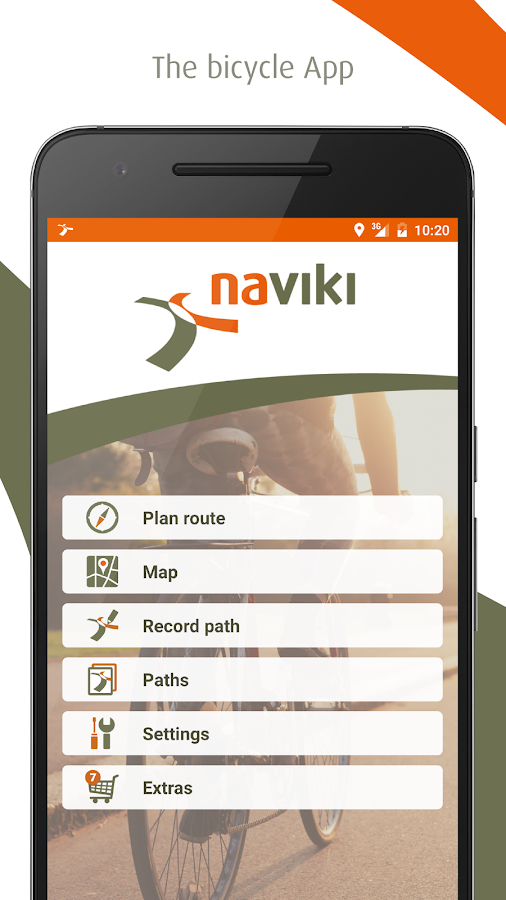 Naviki – the bicycle satnav- screenshot