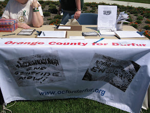 Photo: Orange County for Darfur table