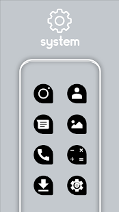 Teardrop Black UI - Icon Pack Screenshot