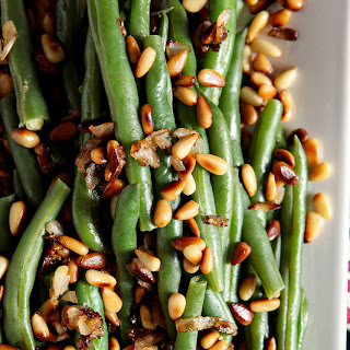 Toasted Pine Nut Green Beans