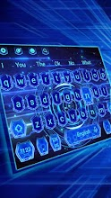 Blue Hologram Keyboard Theme 10001003 latest apk download for