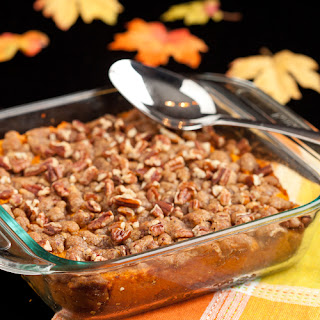 Sweet Potato Casserole with Brown Sugar Crumble – Side dish, or dessert?