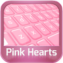 GO Keyboard coeurs roses icon