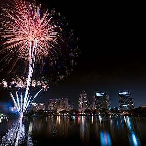 Fireworks on the 4th. by Jay Kleinrichert - City,  Street & Park  Vistas ( pwcfireworks, pwcredscapes )
