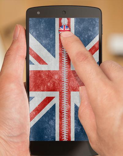 UK Flag Zipper Lock Pro