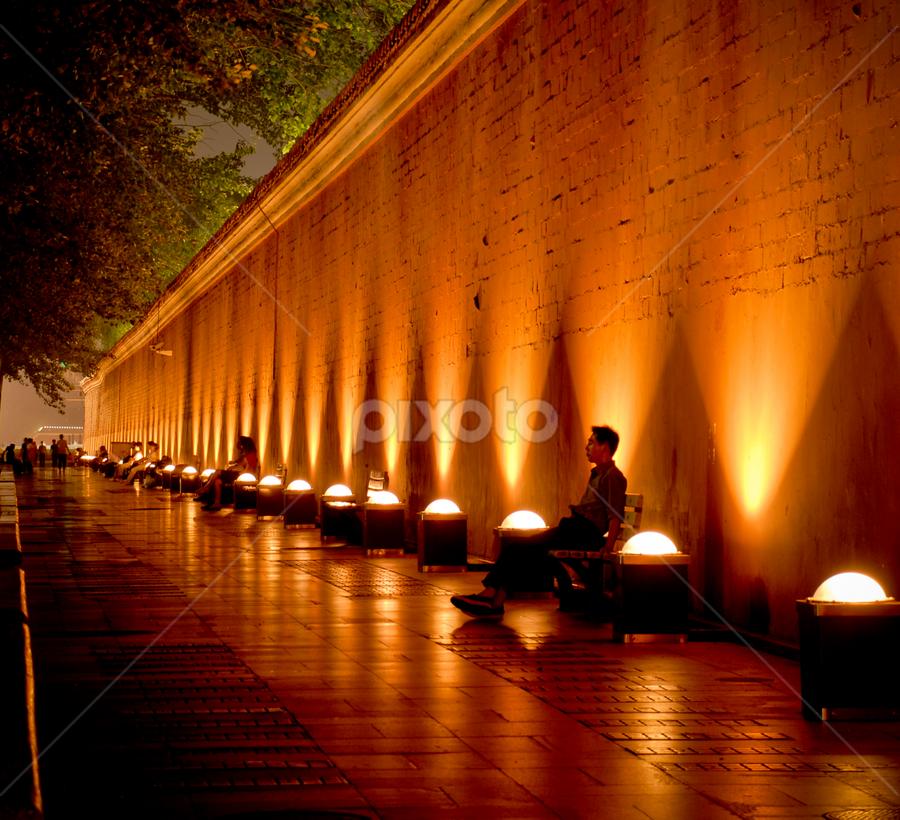 Summer Night Beijing by Gary Grulich - Travel Locations Landmarks