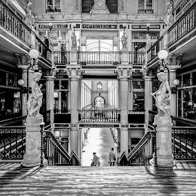 Passage Pommeray by Pascal Bénard - Buildings & Architecture Other Interior ( 2009, pays de la loire, nantes, france, passage pommeray, n&b, loire atlantique, black and white, interior, building, monotone )