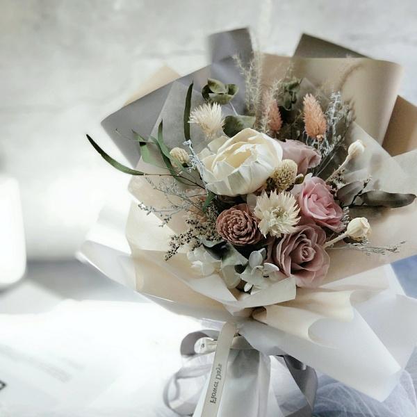 台北-花藝教室-花曜日-不凋花花束