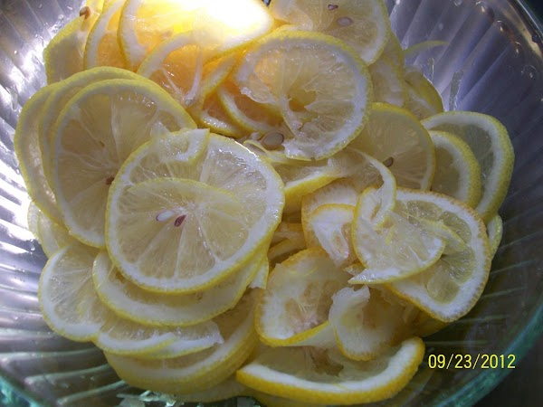 Add the salt, sugar and lemon juice, and cover and toss several times. Let...